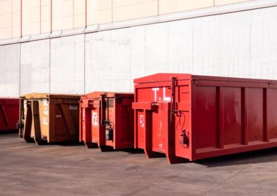 AOM Rottami cassoni per raccolta refusi in loco presso aziende clienti